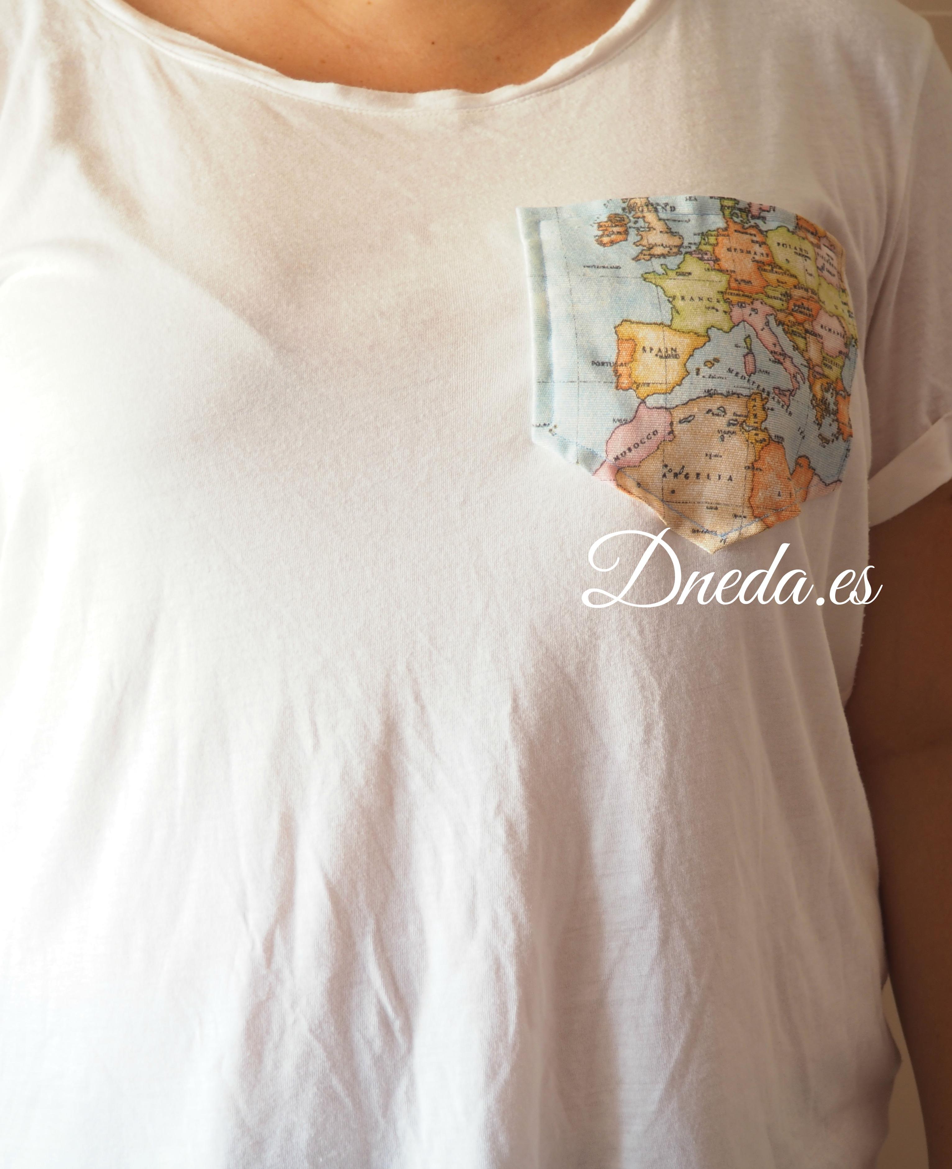 Como hacer un bolsillo a una camiseta | Dneda